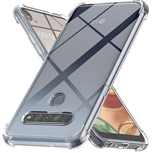 Ferilinso Hülle für LG K61 Hülle, [Version mit Vier Ecken verstärken] [Kamerapflegeschutz] Stoßfeste, weiche TPU-Silikonhülle aus Gummi für LG K61 Hülle (Transparent)