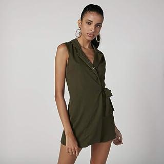 ايكونيك فستان كاجوال قصير للنساء , مقاس 8 UK , اخضر