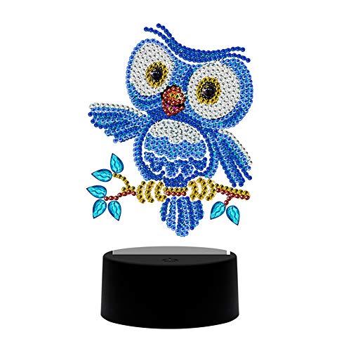 starnearby 5D DIY Diamond Painting Kit LED Dekoratives Licht LED Nachtlicht, Diamant Malerei Dekoration Nachtlicht kristall strass lampe, kinderzimmer wohnzimmer,Schlafzimmer