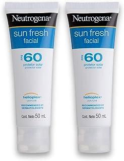Kit com 2 Protetores Solar NEUTROGENA Sun Fresh Facial FPS 60 50g
