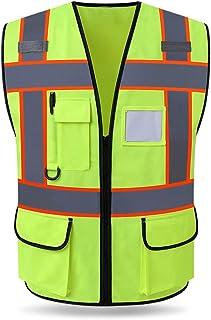 سترة عاكسة للضوء لحماية موقع السلامة والتخزين الموحد للأمان أثناء المرور من الفلورسنت لتسليط الضوء على السلامة