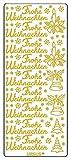 Ursus 59300058 - Kreativ Sticker, Frohe Weihnachten, 5 Blatt, gold