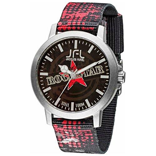 Orologio JFL di Jaques Farel stile hipster con bandiera Rock Star CRS 012