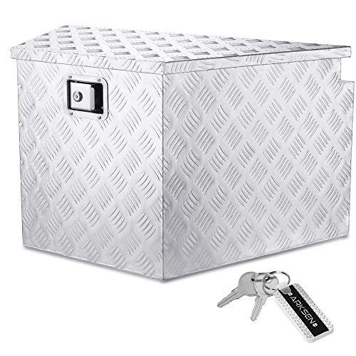 ARKSEN 33' Aluminum Pickup Truck Trailer Tongue Storage Tool Box Organizer w/Lock & Keys