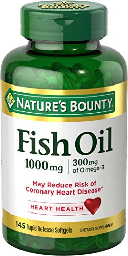 Nature#039s Bounty Fish Oil Omega3 1000 mg Soft Gels 145 Count