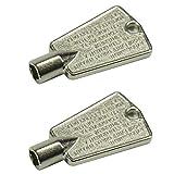Rlfearl 216702900 Freezer Door Key For Frigidaire Kenmore AP4071414 PS2061565 AP2113733 AP4301346 PS1991481 06599905 08037402 12849 Pack of 2 (Metal)