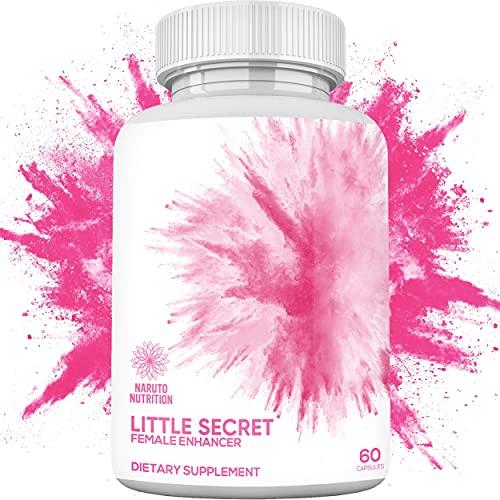 Little Secret Female Enhancement Pills – 10X Strength w/ Increased Drive, Hormone Balance, Mental Performance, & Mood for Her – 100% Natural Pink Dong Quai, Maca Root, Amino Acid, & More - 60 Caps