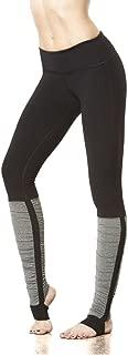 Plustrong Women's Black Stirrup Gym Sports Running Workout Yoga Leggings Pants