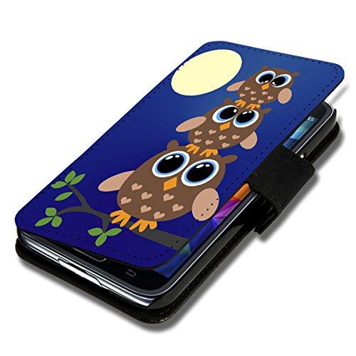 Book Style Flip Handy Tasche Hülle Schutz Hülle Schale Motiv Etui für Huawei Ascend Y530 - A35 Design1
