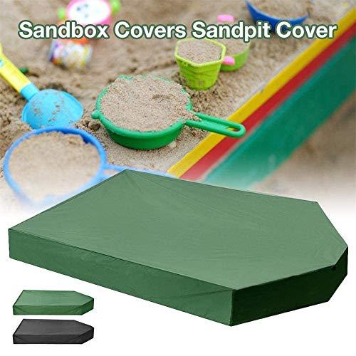 LYAID Sandkastenabdeckungen, Gartensandkastenabdeckung mit Kordelzug, wasserdichter Sandkasten-Sonnenschirm für kleine Bäder im Innen- und Außenbereich, 160 × 113 × 22 cm,Grün