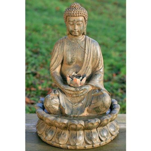 seliger Brunnen Zimmerbrunnen Gartendeko Buddha 50cm