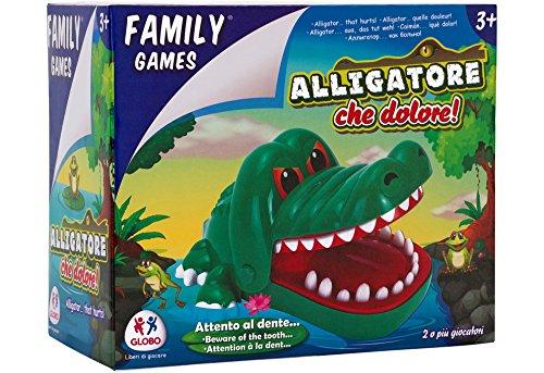 Family Games- Gioco del Dentista con Coccodrillo, Multicolore, 37551