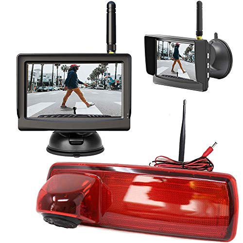 "3. Bremslicht Digital Kabellose Funk Rückfahrkamera Kompatibel mit Renault Trafic & Opel Vivaro mit 5\"" HD Monitor - Bis zu 5 Jahre Garantie, Transporter Rückfahrsystem Kamera mit Sony CCD Chipset"