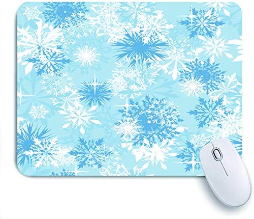 COFEIYISI Fondo Transparente de Copos de Nieve para el Tema de Invierno y Navidad,Alfombrilla Raton Alfombrilla Gaming Alfombrilla para computadora