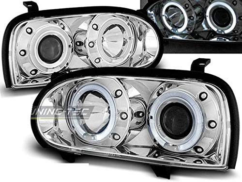 Shop Import Paire de Feux phares Golf 3 91-97 Angel Eyes Chrome (W03)