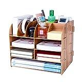 Lesfit Organizer Schreibtisch Holz, Büro Tisch Organisation (32*27*24 cm)