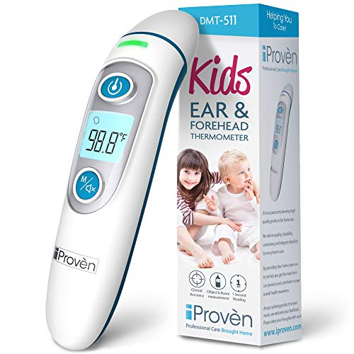 iProven Forehead Thermometer for Kids - Revolutionized 2020 Infrared Technology - Clinical Accuracy - Instant Read Thermometer for Kids with Ear Mode - DMT-511