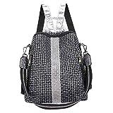 Jaipur Home Multifunktionaler Damenrucksack,Handtaschenmode Sommerrucksack Leder Damen,Leichte Rucksack Damen GroßRaum Schultasche Silver