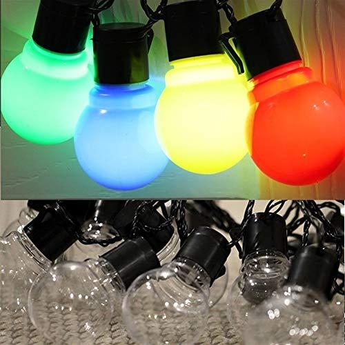 WUFAJINWU Led Solar Festoon Wedding String Light Fairy Light Globe Garland LED String Waterproof Outdoor Garden Ornaments LED Lights (Color : Multi-colored, Size : One Size)