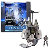 McFarlane Toys Year 2012 Video Game Series 'HALO' 4 Inch Tall Action Figure Vehicle Set - ODST (Orbital Drop Shot Trooper) DROP POD with Removable Door, 2 Internal Weapon Racks, and a Telescoping, Articulated Drag Chute Plus The Rookie with M7S Submachine Gun and M6C/SOCOM Pistol (Vehicle Dimension: 6' L x 7-1/2' W x 12' H)