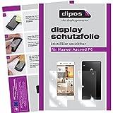 dipos I 4X Schutzfolie klar kompatibel mit Huawei Ascend P6 Folie Bildschirmschutzfolie (2X Vorder- und 2X Rückseite)
