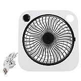 Mini ventilador USB, ventilador silencioso de escritorio personal portátil, ventilador de mesa silencioso pequeño, ventilador humidificador de spray con fuente de alimentación USB, para viajes