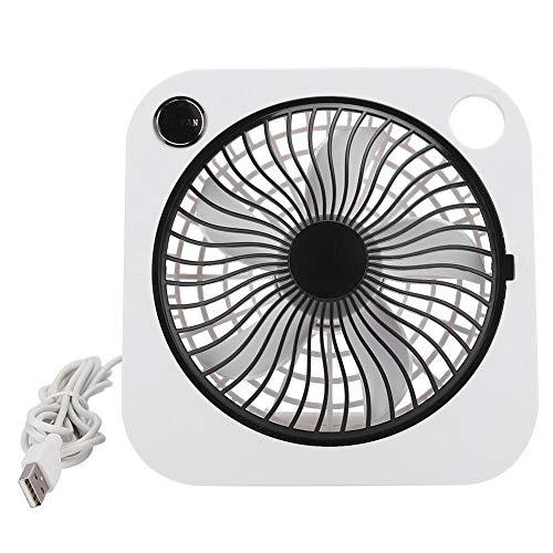 ASHATA draagbare ventilator Werkt op batterijen, Desktopventilator Draagbaar Oplaadbaar Instelbaar 2 windsnelheden Stille USB-miniventilator, Super mute, USB-voeding, Krachtige zwarte ventilator
