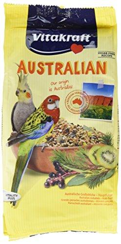 Vitakraft Hauptfutter für australische Großsittiche, Getreide/Saaten/Kiwi/Eukalyptus/Holunderbeeren, Zuckerfreie Rezeptur, 5er pack (5 x 750 g)