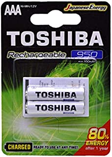 Toshiba Rechargeable Battery AAA 2Pcs 950mAh