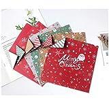Adecuado para Navidad/patrón impreso origami de color cuadrado/papel de árbol de Navidad hecho a mano DIY Santa