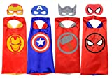 Rubie's MARVEL SUPER HERO Cape Set, Officially Licensed 4 Capes and 4 Masks...