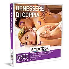 Idea Regalo - Smartbox -Benessere di Coppia - Cofanetto Regalo Coppia, 1 Esperienza Benessere per 2 Persone, Idee Regalo Originale