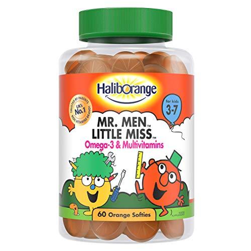 Haliborange Kids Vitamins Mr. Men Little Miss Omega-3 and Multivitamins Softies, 60S 5012335888807