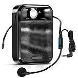 APROTII Amplificador de Voz, Altavoz Bluetooth Portátil con Auriculares y Micrófono de Cable, Mini Amplificador Potente para Guía Turístico, Formación y Presentación, ect.
