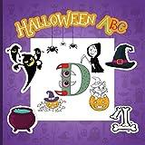 Halloween ABC: Un divertido alfabeto para colorear para niños pequeños y niños de 2 a 5 años,...