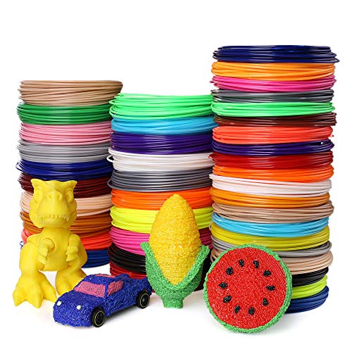 3D Pen Filament - 35 Colors 700 Feet PLA Filament 1.75 mm High-Precision Diameter 3D Pen/3D Printer Filament Refills, Bonus A Bag for Putting Filaments