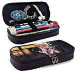 Yuanmeiju Hero Academi-a Toga Himiko Leather Estuche Big Capacity with Zipper Large Storage Pen Pencil Pouch Stationery Organizer Practical Bag Holder