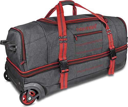 normani Reisetasche mit Rollen und großem Stauraum - mit Trolley-Funktion Farbe Red Größe 90 Liter