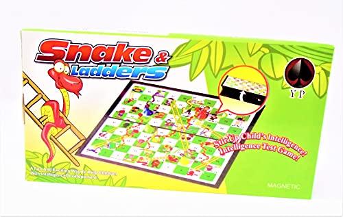 Juego Plegable de Viaje de Serpientes y escaleras, Juego de Mesa magnético.