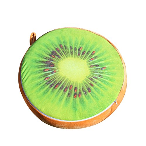 Yeahibaby 33cm 3D Fruta Kiwi almohada almohada almohada Home Office sofá decoración Asiento silla almohadillas piso Mat