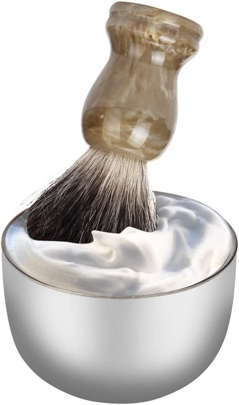 Nopeak Cheap super special price Shaving San Jose Mall Soap Bowl Lather fo Steel Stainless