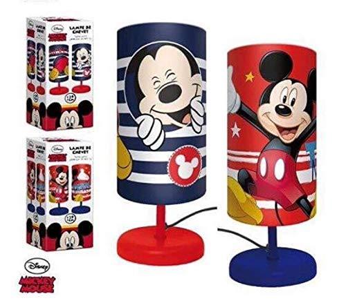 Lampe de Chevet Cylindre DISNEY MICKEY MOUSE Enfant Chambre en Rouge - LR2298