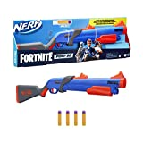 NERF Fortnite Pump SG Blaster -- Pump Action Mega Dart Blasting -- Breech Load -- 4 Official Mega Darts -- for Youth, Teens, Adults