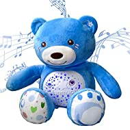 🧸【Multi-colored Night Lights】Red, pink, orange, purple, green, blue, green, etc. soft lighting changes from dark to light. This Toddler Sleep Aid bear toy with soothing music, changing lights, and soft-touch, can calm the baby while creating a peacef...