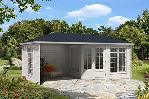 Alpholz 5-Eck Gartenhaus Josephine-40 Royal aus Massiv-Holz | Gerätehaus mit 40 mm Wandstärke | Garten Holzhaus inklusive Montagematerial | Geräteschuppen Größe: 598 x 302 cm