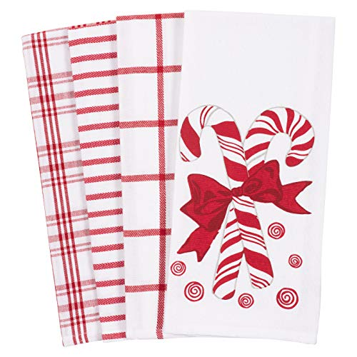 KAF Home Pantry Kitchen Holiday Dish Towel Set of 4, 100-Percent Cotton, 18 x 28-inch (Happy Valentine's Day)