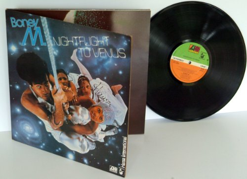 BONEY M, night flight to Venus. TOP COPY. First UK press 1978. Matrix A-3, B-4. On green and orange Atlantic records