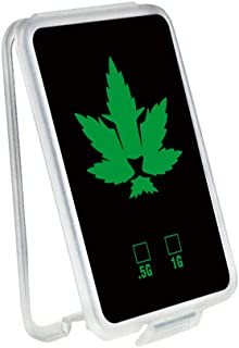 Slim Shatter Plastic Container - Packs Wax Concentrate | Green Lion & Leaf Fusion Design | (100 Pack)