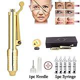 ZXCASD Hyaluron Pen Kit, Hyaluronique Pen Acide 5 Pcs Tête D'ampoule Seringue Jetable Stérile, Whitening Moisture Beauty Salon Anti Rides, sans Aiguille
