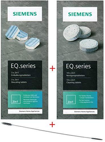 SIEMENS TZ80001 10 Reinigungstabletten + 3 Entkalkungstabletten für EQ Series